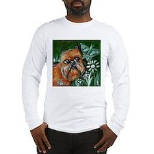 Brussels Griffon eyes butterf Long Sleeve T-Shirt