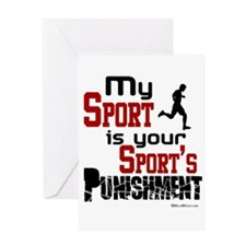 Your Sport's Punishment - Male Greeting Card