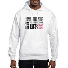 Real Athletes Run - Female Hoodie