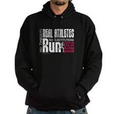 Real Athletes Run - Female Hoodie