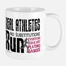 Real Athletes Run - Female Mug