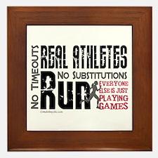 Real Athletes Run - Female Framed Tile