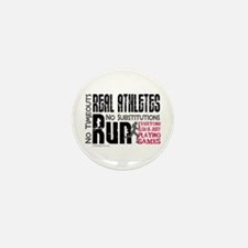 Real Athletes Run - Female Mini Button (10 pack)