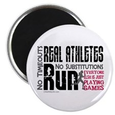 Real Athletes Run - Female Magnet