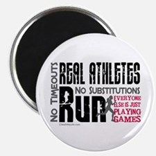"""Real Athletes Run - Female 2.25"""" Magnet (10 pack)"""
