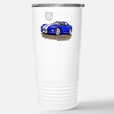 Viper Blue/White Car Travel Mug