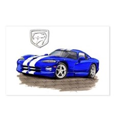 Viper Blue/White Car Postcards (Package of 8)