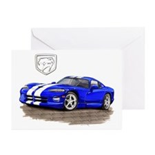 Viper Blue/White Car Greeting Cards (Pk of 10)