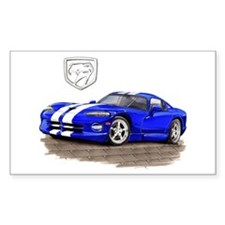 Viper Blue/White Car Rectangle Decal