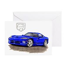 Viper Blue Car Greeting Cards (Pk of 10)