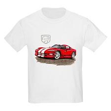 Viper Red/White Car T-Shirt