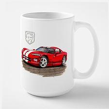 Viper Red/White Car Large Mug