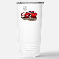 Viper Red/White Car Travel Mug
