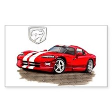 Viper Red/White Car Rectangle Decal