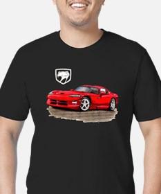 Viper Red Car Men's Fitted T-Shirt (dark)