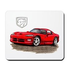 Viper Red Car Mousepad