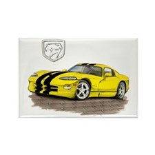 Viper Yellow/Black Car Rectangle Magnet