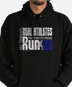 Real Athletes Run - Male Hoodie