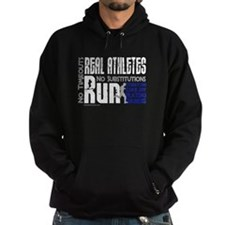 Real Athletes Run - Male Hoody
