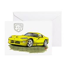 Viper Yellow Car Greeting Cards (Pk of 10)