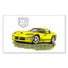 Viper Yellow Car Rectangle Decal