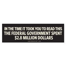 Federal Spending Bumper Bumper Sticker