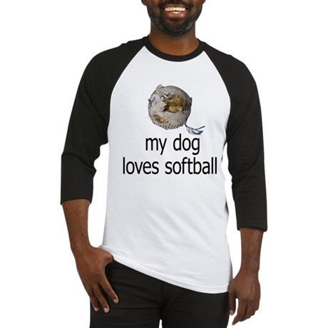 My dog loves softball Baseball Jersey