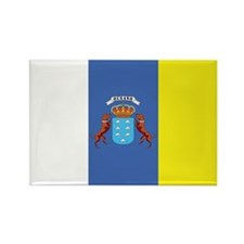 Canary Islands Flag Rectangle Magnet