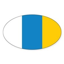 Canary Islands Civil Ensign Oval Decal