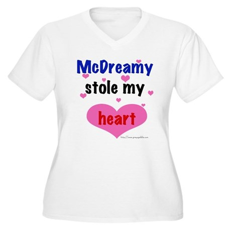 McDreamy Women's Plus Size V-Neck T-Shirt
