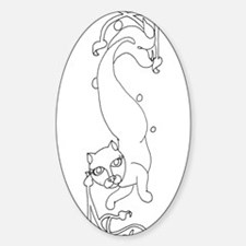 Catfish2 Oval Decal