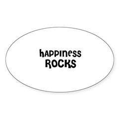 HAPPINESS ROCKS Oval Decal