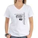 Photographer Women's V-Neck T-Shirt