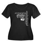Photographer Women Plus Sz Scoop Neck Dark T-Shirt