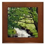 Go With The Flow Framed Tile