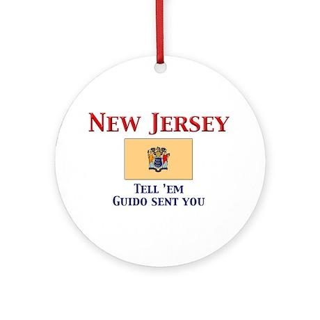 New Jersey Guido Ornament (Round)