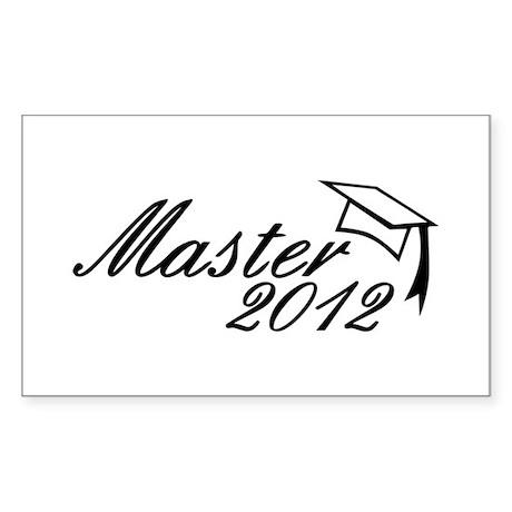 Master 2012 Rectangle Sticker