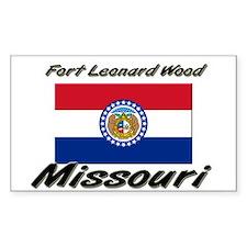 Fort Leonard Wood Missouri Rectangle Decal
