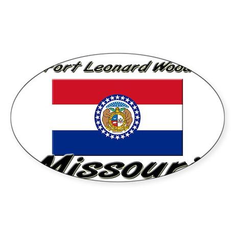 Fort Leonard Wood Missouri Oval Sticker