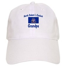 Coolest N Dakota Grandpa Baseball Cap