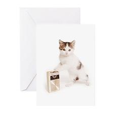 Unique Zen cat Greeting Cards (Pk of 10)