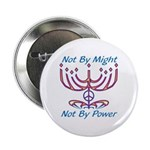 "Not By Might 2.25"" Button (100 pack)"