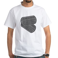 Space Cowboy Tags White T-Shirt