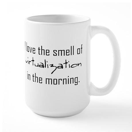 Luv The Smell Of Virtual v2... Large Mug