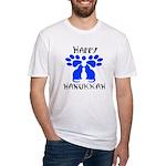 Cat Menorah 2 Fitted T-Shirt