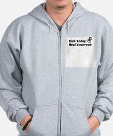 Ride Today Zip Hoodie