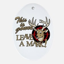 This is Gonna Leave a Mark Deer H Ornament (Oval)