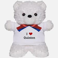 I Love Quinten Teddy Bear