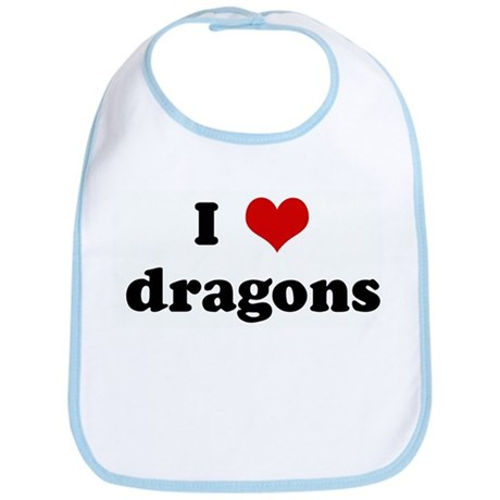 I Love dragons Bib