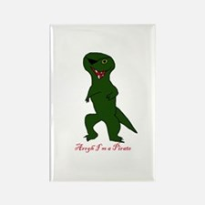 pirate dino Rectangle Magnet